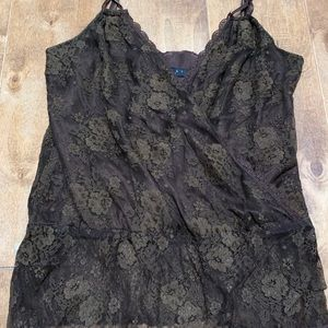 Beautiful lace, cross-front tank